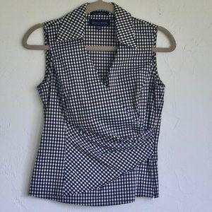 Jones New York faux wrap sleeveless blouse